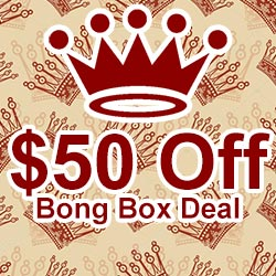 "Get $50 off your bong box purchase! Use discount code ""99Forever"" on checkout!"